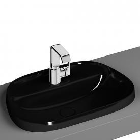 VitrA Frame Einbauwaschtisch asymmetrisch schwarz