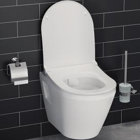 VitrA Integra Wand-Tiefspül-WC mit Bidetfunktion ohne Spülrand, weiß, mit VitrAclean