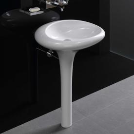 VitrA Istanbul Waschtisch mit integrierter Standsäule weiß, mit VitrAclean