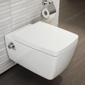 VitrA Metropole Wand-Tiefspül-WC mit Bidetfunktion ohne Spülrand, weiß, mit VitrAclean, mit integrierter Thermostat-Armatur