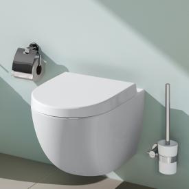 VitrA Sento Wand-Tiefspül-WC mit Bidetfunktion mit Spülrand, weiß