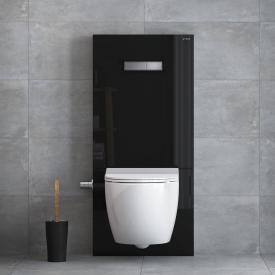 VitrA Sento Wand-Tiefspül-WC-Set, mit Stand-Spülkasten mit Bidetfunktion weiß/schwarz