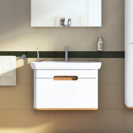 VitrA Sento Waschtisch mit Waschtischunterschrank mit 1 Auszug Front weiß matt / Korpus weiß matt/eiche