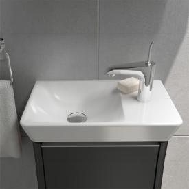 VitrA T4 Compact Waschtisch, Becken links weiß mit 1 Hahnloch