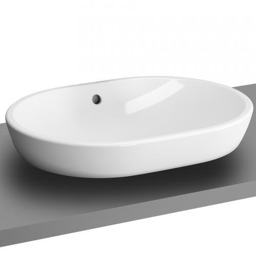 vitra metropole aufsatzwaschtisch oval wei mit vitraclean 5942b403 0012 reuter. Black Bedroom Furniture Sets. Home Design Ideas