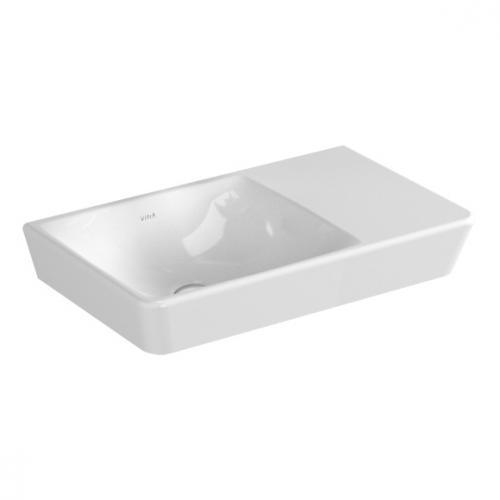 vitra t4 compact waschtisch becken links wei ohne hahnloch 4458b003 0016 reuter. Black Bedroom Furniture Sets. Home Design Ideas