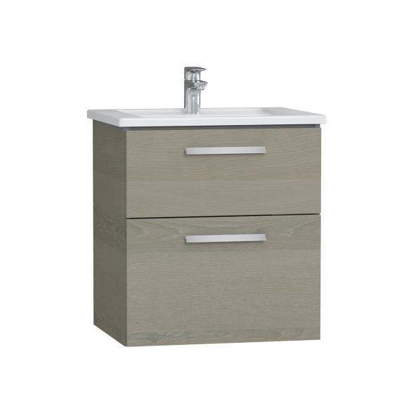 VitrA Integra Waschtisch mit Waschtischunterschrank mit 2 Auszügen Front graueiche / Korpus graueiche