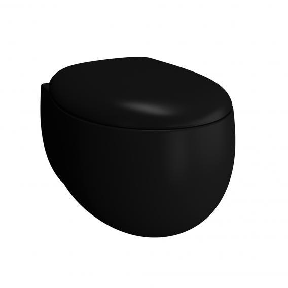 VitrA Memoria Black Wand-Tiefspül-WC VitrAflush 2.0 schwarz matt, mit VitrAclean