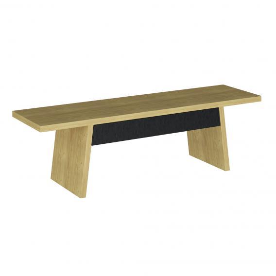 VitrA Memoria Elements Sitzbank mit Schublade eiche/schwarz matt
