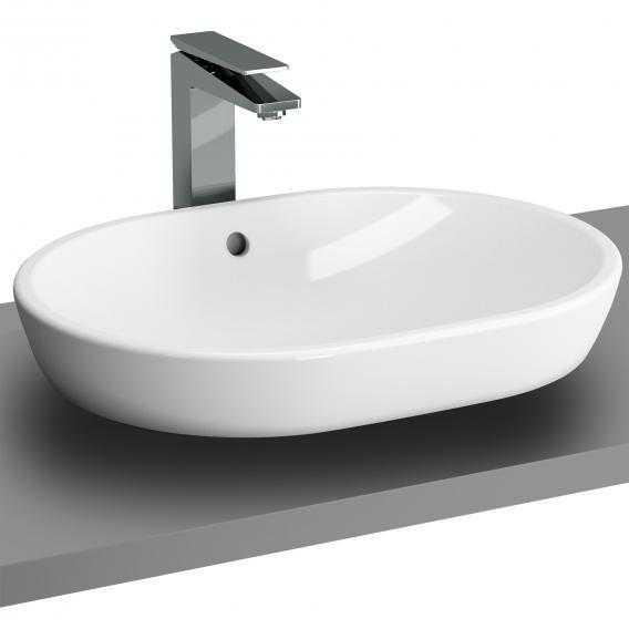 VitrA Metropole Aufsatzwaschtisch, oval weiß, mit VitrAclean