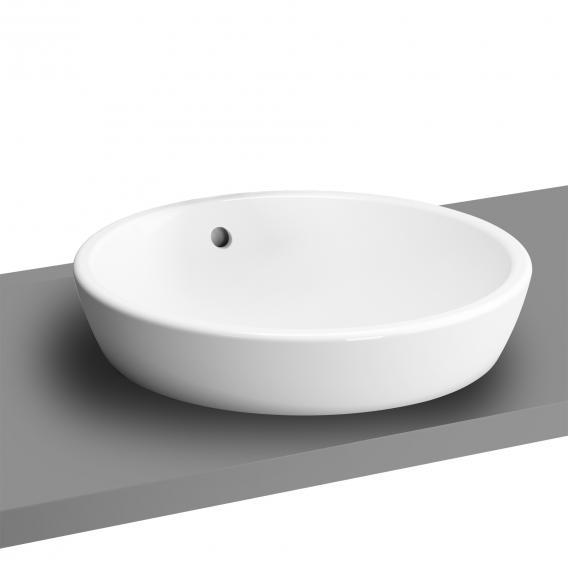 VitrA Metropole Aufsatzwaschtisch, rund weiß, ungeschliffen, mit Überlauf