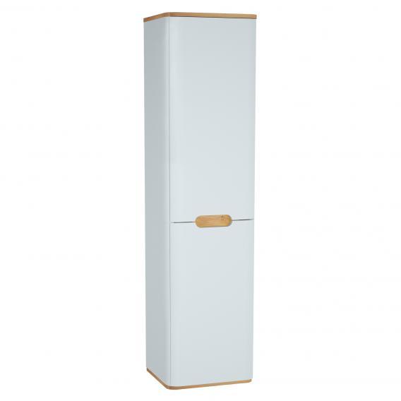 VitrA Sento Hochschrank mit 2 Türen und 1 Wäschekorb Front weiß matt / Korpus weiß matt/eiche