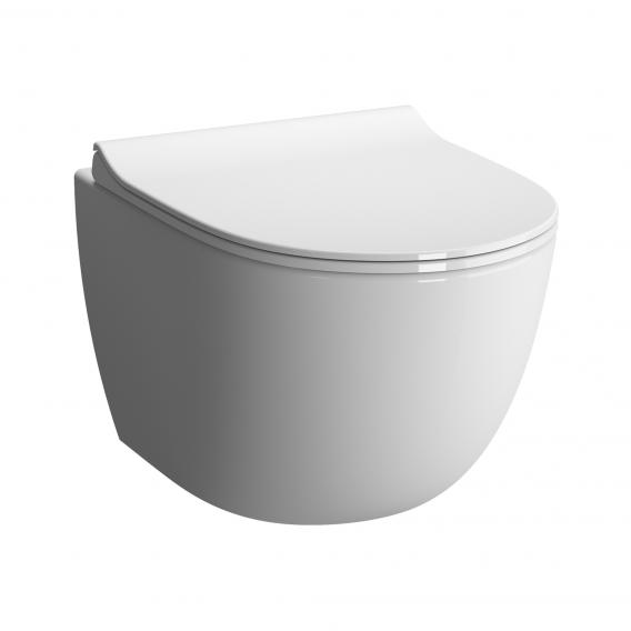VitrA Sento Wand-Tiefspül-WC Compact mit Bidetfunktion mit Spülrand, weiß, mit VitrAclean