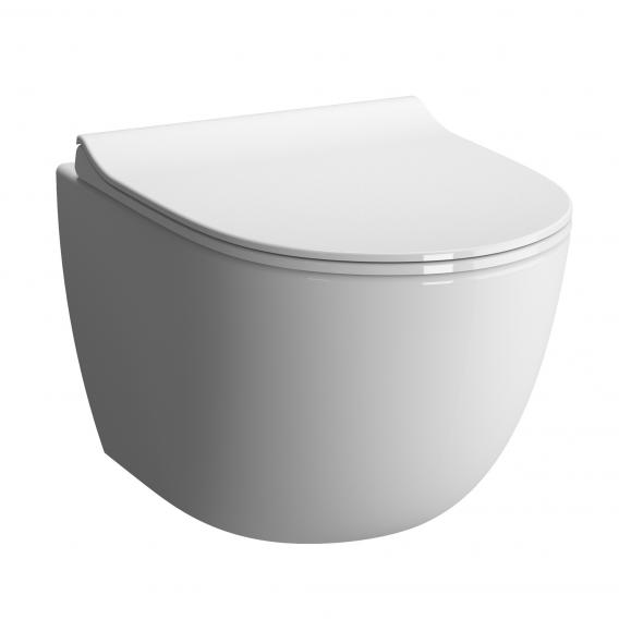 VitrA Sento Wand-Tiefspül-WC Compact mit Bidetfunktion ohne Spülrand, weiß