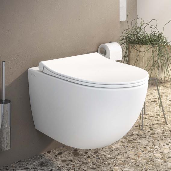 VitrA Sento Wand-Tiefspül-WC ohne Spülrand, edelweiß