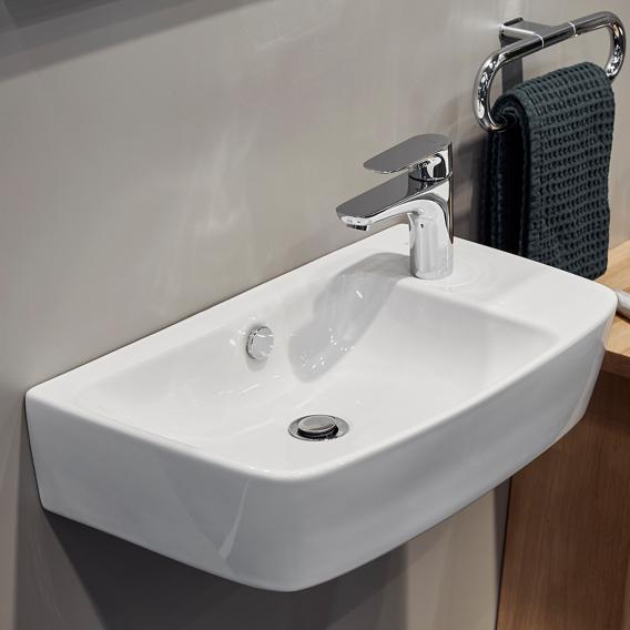 VitrA Shift Waschtisch Compact asymmetrisch weiß, mit VitrAclean, geschliffen