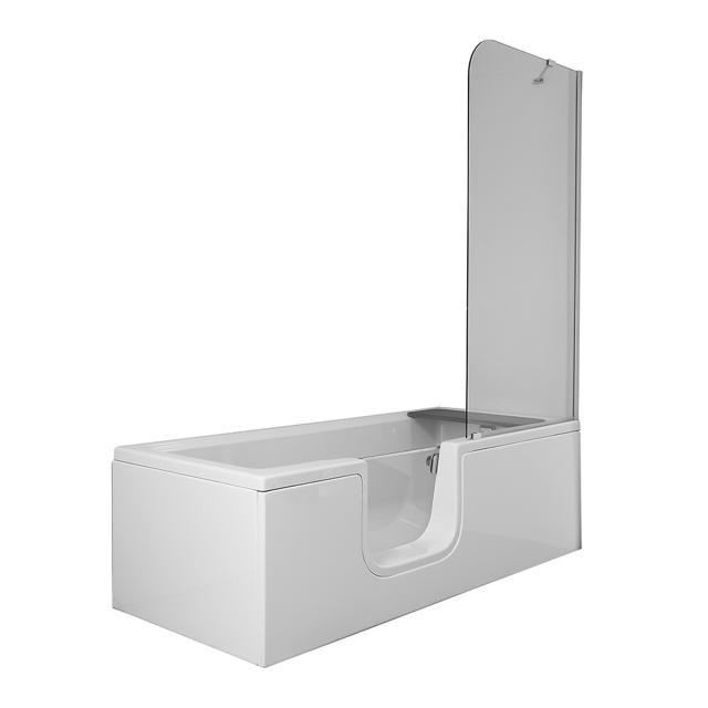 VitrA Conforma Combo Rechteck-Badewanne mit Duschzone, Einbau