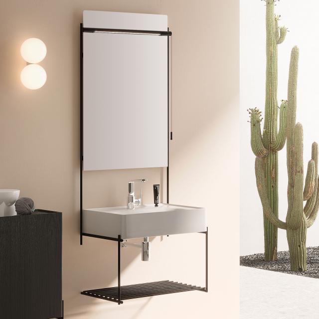 VitrA Equal Spiegel mit LED-Beleuchtung und Metallrahmen