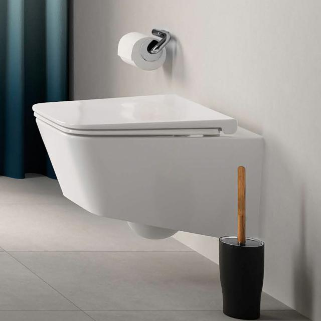 VitrA Equal Wand-Tiefspül-WC VitrAFlush 2.0, mit WC-Sitz