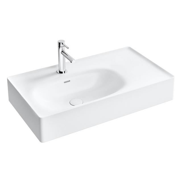 VitrA Equal Waschtisch mit Ablage weiß, geschliffen