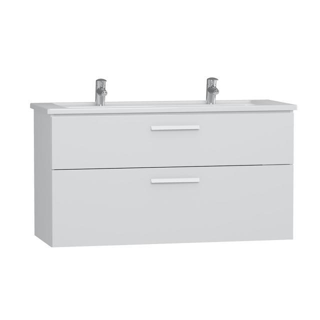 VitrA Integra Doppelwaschtisch mit Waschtischunterschrank mit 2 Auszügen Front weiß hochglanz / Korpus weiß hochglanz