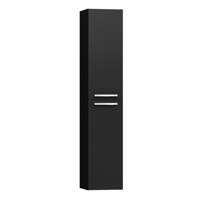 VitrA Integra Hochschrank mit 2 Türen Front anthrazit hochglanz / Korpus anthrazit hochglanz