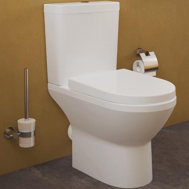 VitrA Integra Stand-Tiefspül-WC für Kombination, VitrAflush 2.0, open back weiß