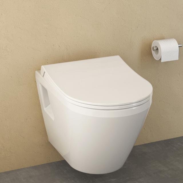 VitrA Integra Wand-Flachspül-WC weiß, mit VitrAclean