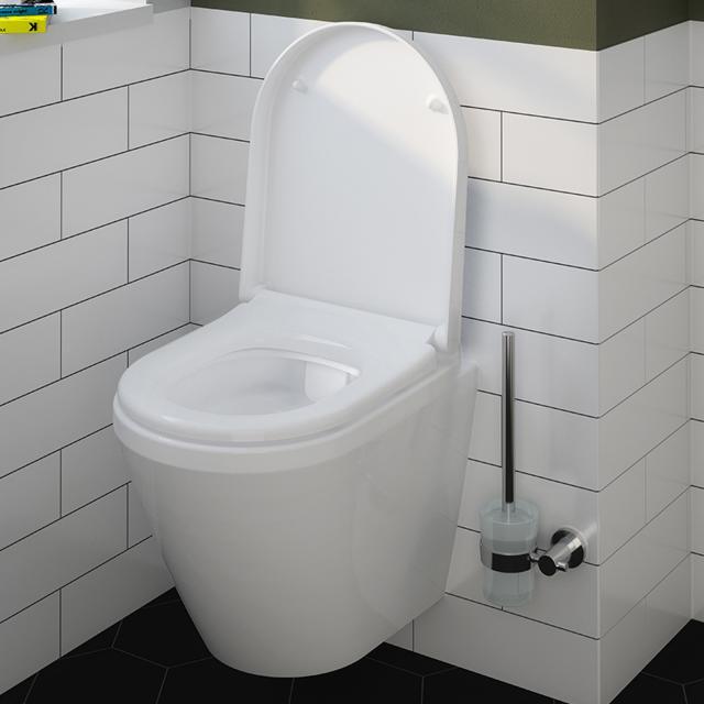 VitrA Integra Wand-Tiefspül-WC Compact VitrAflush 2.0 mit Bidetfunktion weiß, mit VitrAclean