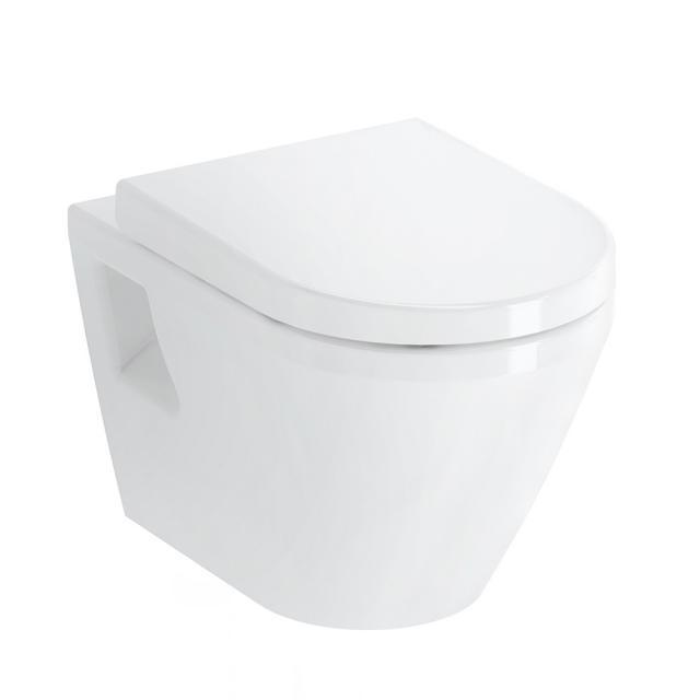 VitrA Integra Wand-Tiefspül-WC mit Bidetfunktion mit Spülrand, weiß