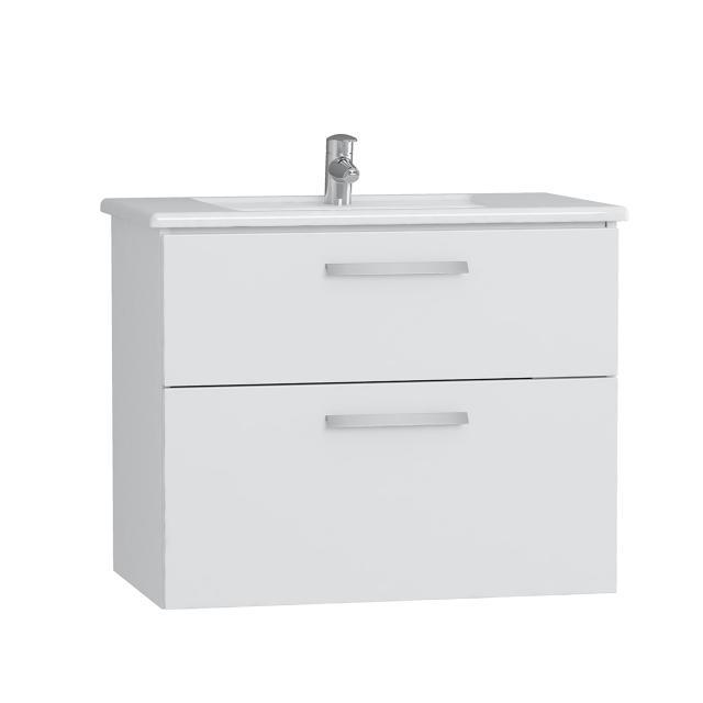 VitrA Integra Waschtisch mit Waschtischunterschrank mit 2 Auszügen Front weiß hochglanz / Korpus weiß hochglanz