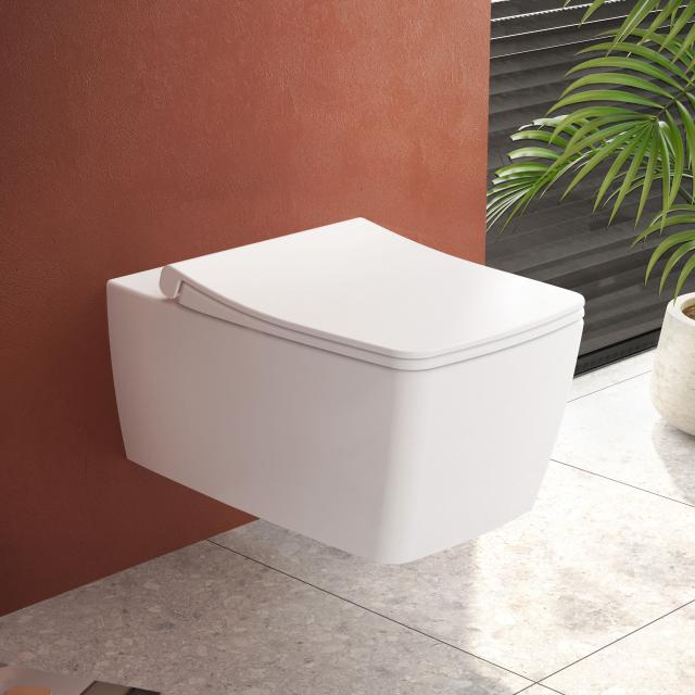VitrA Metropole Wand-Tiefspül-WC ohne Spülrand, edelweiß