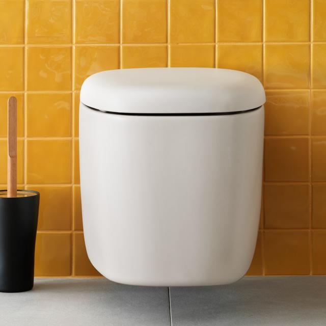 VitrA Plural Wand-Tiefspül-WC VitrAFlush 2.0 edelweiß