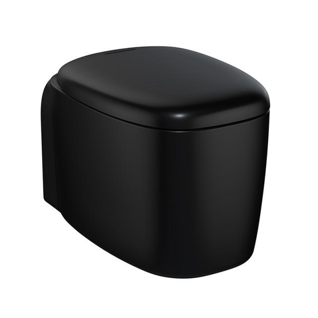 VitrA Plural Wand-Tiefspül-WC VitrAFlush 2.0 schwarz matt