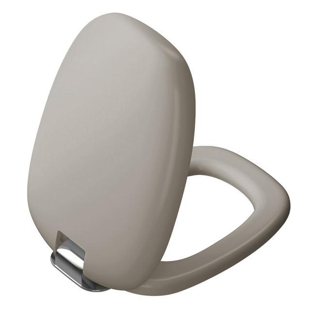 VitrA Plural WC-Sitz, abnehmbar mit Absenkautomatik taupe matt/chrom