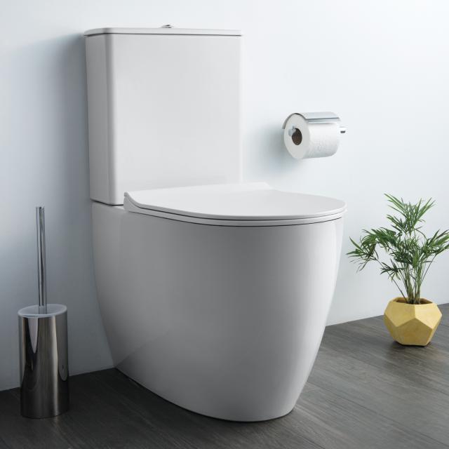 VitrA Sento Stand-Tiefspül-WC für Kombination, VitrAflush 2.0, back to wall weiß
