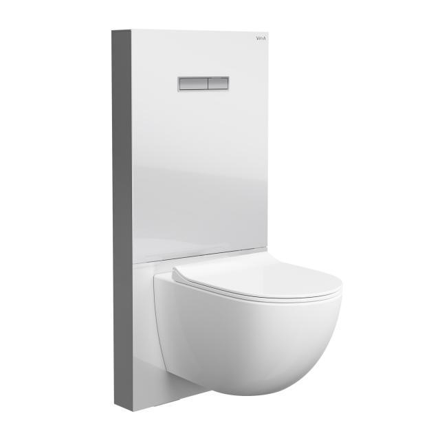 VitrA Sento Wand-Tiefspül-WC ohne Spülrand, mit Stand-Spülkasten, mit WC-Sitz weiß, mit VitrAclean und VitrAhygiene