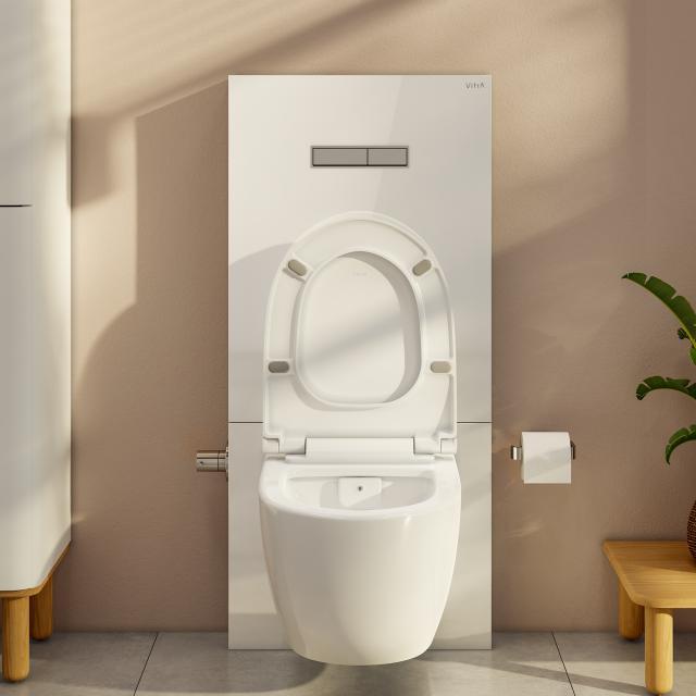 VitrA Sento Wand-Tiefspül-WC-Set, mit Stand-Spülkasten mit Bidetfunktion weiß
