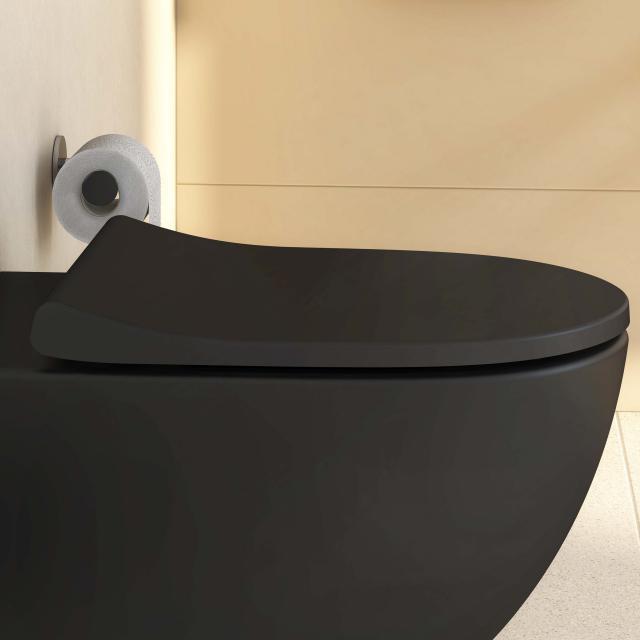 VitrA Sento WC-Sitz Slim Wrap, mit Absenkautomatik & abnehmbar schwarz matt