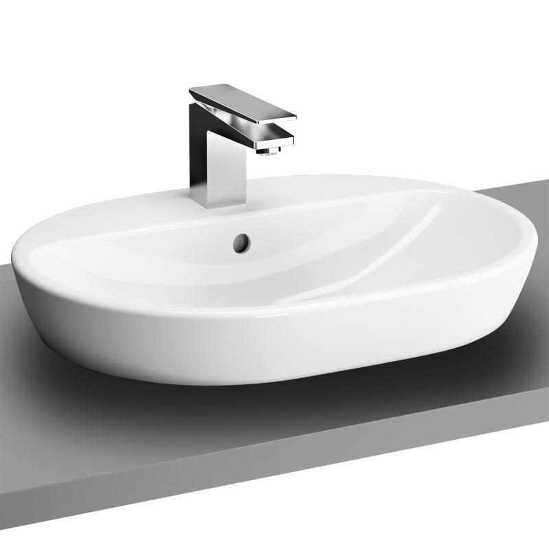 vitra metropole aufsatzwaschtisch oval wei mit berlauf 5943b003 0001 reuter. Black Bedroom Furniture Sets. Home Design Ideas