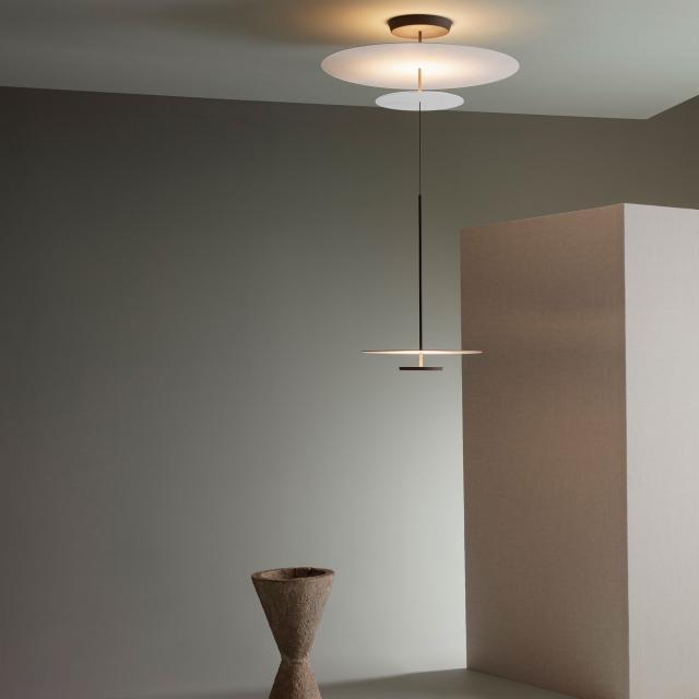 VIBIA Flat LED Pendelleuchte mit Dimmer, höhenverstellbar