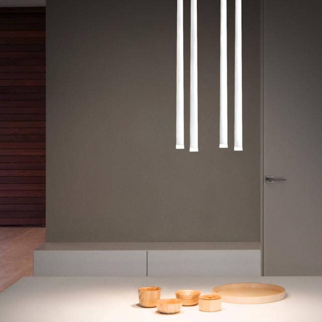 VIBIA Slim LED Pendelleuchte 4-flammig, quadratisch