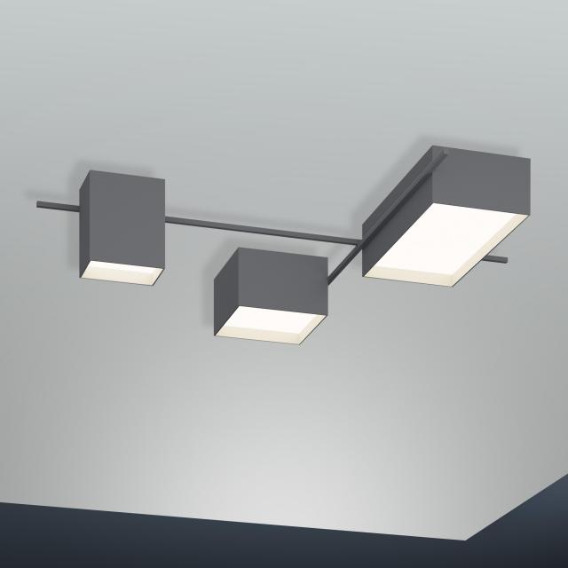 VIBIA Structural LED Deckenleuchte 3-flammig