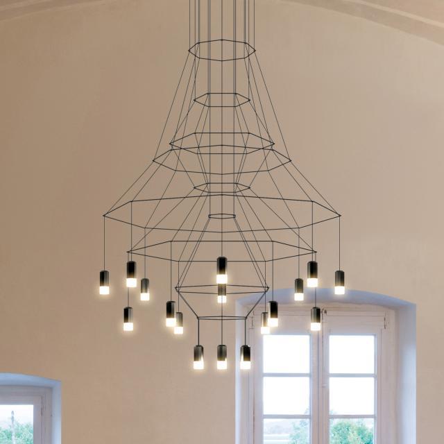 VIBIA Wireflow LED Pendelleuchte 20-flammig