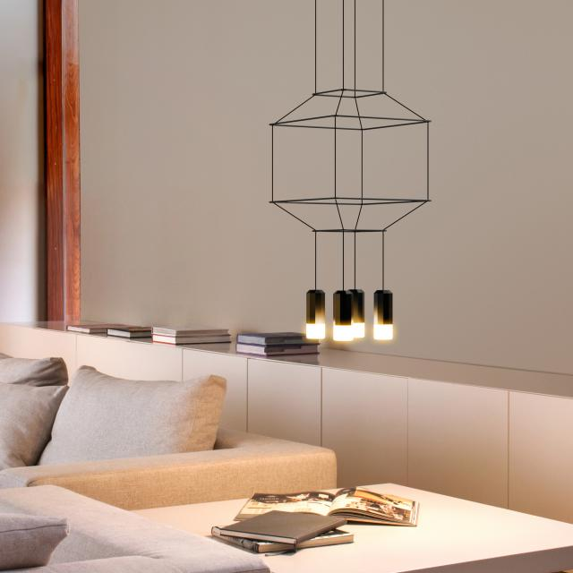 VIBIA Wireflow LED Pendelleuchte quadratisch