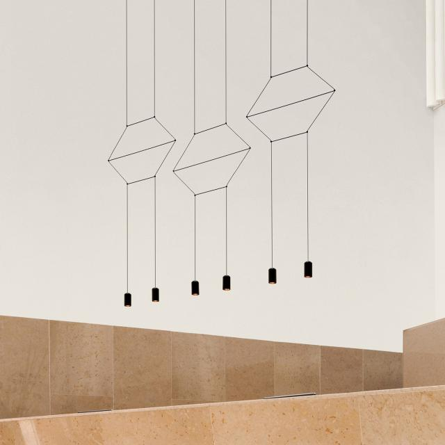 VIBIA Wireflow Lineal LED Pendelleuchte 6-flammig