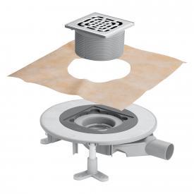 Viega Advantix Top-Badablauf für die Verbundabdichtung, Aufsatz mit Rahmen aus Edelstahl