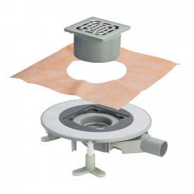 Viega Advantix Top-Badablauf für die Verbundabdichtung, Aufsatz mit Rahmen aus Kunststoff