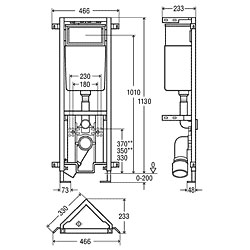 Viega Eco Plus-WC-Eckelement 2C für wandhängendes WC Bauhöhe 113 cm