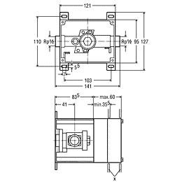 Viega Mono-Urinalspülsystem-Rohbauset